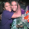10/22/99---Longview High School senior Tiffany Wilson, right, is hugged by felow nominee Chamine Burton after Wilson was crowned homecoming queen Friday at Lobo Stadium. bahram mark sobhani