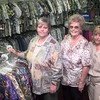10-7-99--Left to Right---Kathy Mears, Barbara Powell, and Michelle Porter, at Scrubs and Such in Longview. Kevin Green