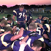 9/17/99---PT's # 74 Blake Stagner, a senior on the Pirate football team leads the team in prayer prior to Friday night's game against Mt. Pleasant in Longview. Kevin Green