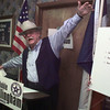 """9/2/99---Actor Noble Willingham announces his candidacy for U.S. Congress during a press conference Thursday at the GOP headquarters in Longview. Willingham, who currently stars as C.D. Parker on """"Walker, Texas Ranger"""" is running for the first district of Texas seat. bahram mark sobhani"""