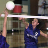 9/14/99---Spring Hill's #9 returns a ball against Sabine in a match Tuesday night in Spring Hill. Kevin green