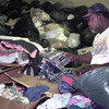 8/27/99---Goodwill Industries employee ??????? went from welfare to a job where he sorts through donated items at the store on Green St. in LGV. Kevin green