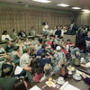 9/27/99---Citizens, parents and students fill the LISD board room Monday to speak out in regards to the board's reconsideration of a student solemnization decision. bahram mark sobhani