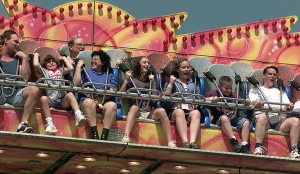 9/18/99---Ride enthusiasts enjoy the Raven at the Gregg County Fair Saturday. bahram mark sobhani