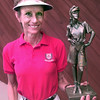 9/10/99---Oak Forest Ladies Golf Association champion Charlotte Rae with her trophy. Kevin green