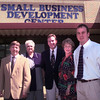9/16/99---Left to Right----Ken Estes-Counselor, Barbara Mizell-Sec., Brad Bunt-director, Sandra Russell-CPA, and Todd Long-Training coordinator outside the front of the small busines center in Longview. Kevin Green