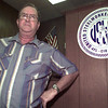 9/3/99---American Steelworkers Union Local 1134 president Herschel Burks stands inside the union hall. bahram mark sobhani