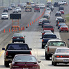 Traffic is backed-up along Loop 281 at McCann Road Friday August 30, 2002 in Longview. Keivn Green