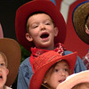 Young cowpokes sing during a Western Days program at the PREP School at First Christian Church Tuesday, April 12, 2005.  (Les Hassell/News-Journal Photo)