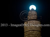 Perigee Super Moon Rises over the Tower of David in Jerusalem