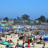 The beaches in Santa Cruz were a mecca to the multitude of sun worshipers on Labor Day. (Fred Arellano -- Vintage Rock Photography)