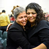 Maria Avila, left, hugs her daughter Sandra Torres after the Naturalization Ceremony at Twin Peaks Charter Academy on Wednesday, Dec. 12, 2012.  Avila, originally from Mexico, became a U.S. citizen at the ceremony. (Greg Lindstrom/Times-Call)