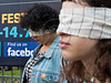The eyes of human rights activists-actors are blindfolded as they protest alleged torture of Palestinian prisoners in Israeli interrogation facilities. Jerusalem, Israel. 5-July-2012.