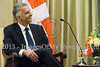 Israel's Shimon Peres hosts Swiss FM Didier Burkhalter