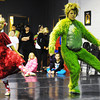 Joey Williams (right), 14, of Neosho, portrays the Grinch and Kailan Peters, 10, of Carl Junction, portrays Cindy Lou Who as they rehearse for the ballet version of The Grinch Monday evening, Dec. 2. 2013, at the Midwest Regional Ballet owned by Kaye Lewis, artistic director. Globe | T. Rob Brown