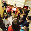 Principal Teresa Adams (center) of Soaring Heights Elementary School takes a group of fourth and fifth graders on a tour Thursday afternoon, Jan. 2, 2014, at the new Duquesne school. Soaring Heights combines the students from Duquesne and Duenweg elementary schools.<br /> Globe | T. Rob Brown