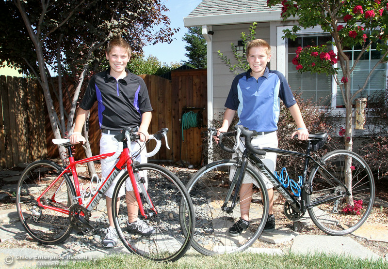 Justin and Brandon Dodds, 14, explain Thursday, Aug. 28, 2014, how they started a bike race to raise awareness for Sjorgren's Syndrome, a disease which their mother, Paula Dodds, suffers from in Chico, California. (Dan Reidel - Enterprise-Record)