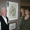 Myra Omelanuk and her daughters Kathy Bahr and Joy Omelanuk at the Alliance Carnegie Arts Center's juried show in the spring of 2008. Myra's painting of white peonies, pictured, won an award at that time and is being exhibit in the Memorial Hall Gallery 239 through Feb. 5. (Courtesy photo)