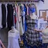 Season Costume Designer Phoebe H. Boynton explains the challenges of costume making last week during a behind-the-scenes tour of the Post Playhouse. (Frank Bright/Chadron State College)