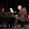 Dr. James Margetts plays a restored 1969 Steinway in a piano duo concert April 17 with Kimberly Murphy in the Memorial Hall Auditorium. (Tena L. Cook/Chadron State College)