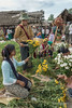 Selling flowers at the market, Inle Lake, Myanmar