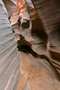 Water-carved passage, Rattlesnake Canyon, Page, AZ