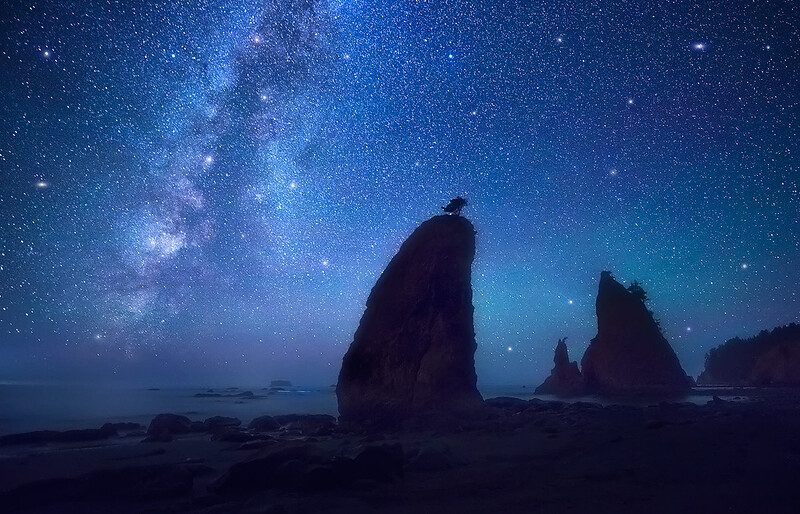 A Clear Night on the Pacific Coast - We Will Visit this Exact Location!