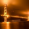 Golden Gate Bridge - In pure gold look