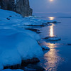Full moon reflections at Splitrock Lighthouse