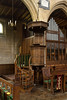 25th Oct 13:  The Pulpit at Edington Priory
