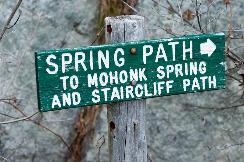 Walking trail sign in Mohonk Mountain House, New Paltz, New York
