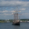 Ship cruising the bay in Halifax, Nova Scotia