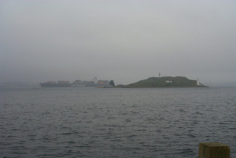 George's Island from afar in Halifax, Nova Scotia