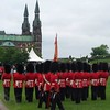Guards outside the Parliament Hill in Ottawa, Ontario, Canada