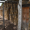 Close up of the exterior design of Mission San Jose settlements