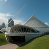 Entrance to Milwaukee Art Museum in Milwaukee, Wisconsin