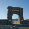 The Roosevelt Arch is located in Montana at the North Entrance of Yellowstone National Park