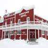 Downtown Hotel during winter in Dawson City, Yukon