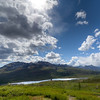Ogilvie Mountains in Dempster Highway in Yukon, Canada