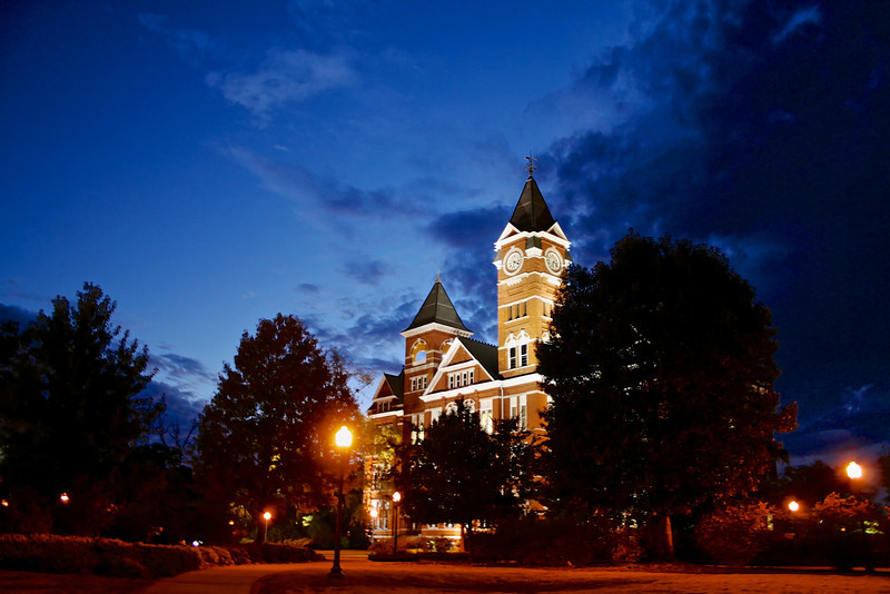 The Blue Hour At Samford Hall