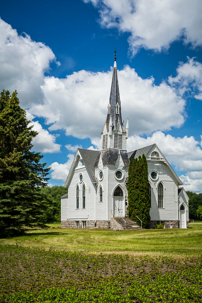 The exterior of the Pleasant Valley Lutheran Church near Park River, North Dakota, USA.