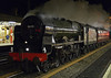46115 Scots Guardsman, 5Z89, Lancaster, Sat 1 March 2014 - 1958.  The Scot races to Carnforth after another day on the Winter Cumbrian Mountain Express.  The support coach was 80217.