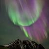Mountain Aurora Curtain Flare
