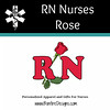RN Nursing Medical Rose Symbol
