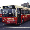 O K Motor Services Bishop Auckland L401FVN Gateshead Interchange Jul 94