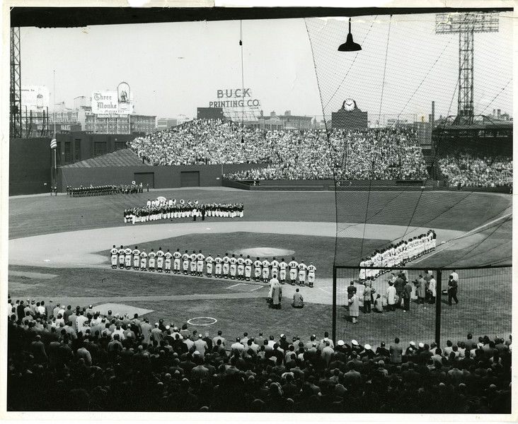 Opening Day at Fenway Park, 1955