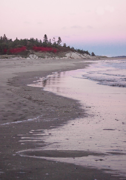 Seawall Beach, Phippsburg Maine, sunset, a stunning Maine coastal scenic