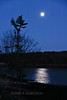 December, winter Full Moon, PHippsburg, Maine