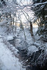 Stream, Sam Day Hill Road, Phippsburg Maine after snow storm, January winter scenic