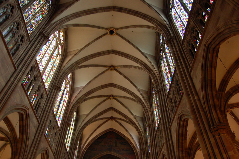 Ceiling Interior of Strassbourg Cathederal